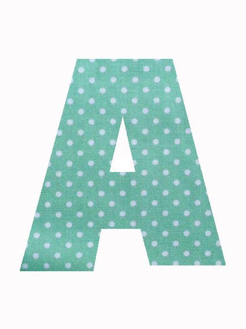 A - Green Polka Dot