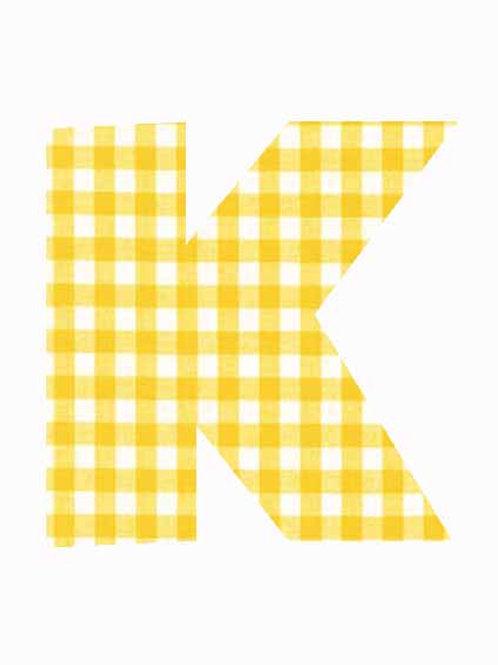 K - Yellow Gingham