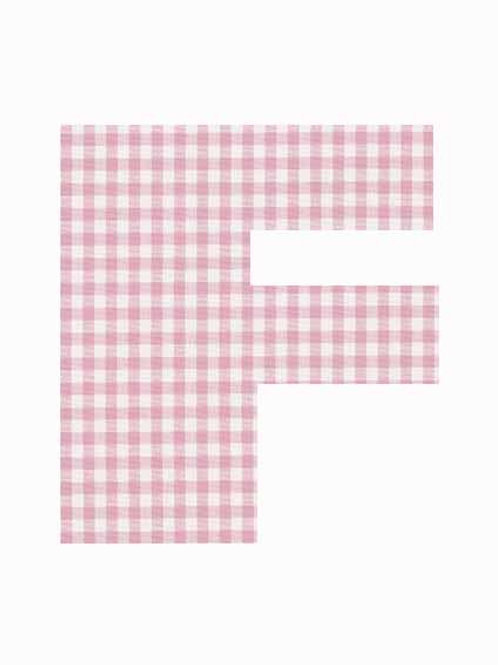 F - Pink Gingham
