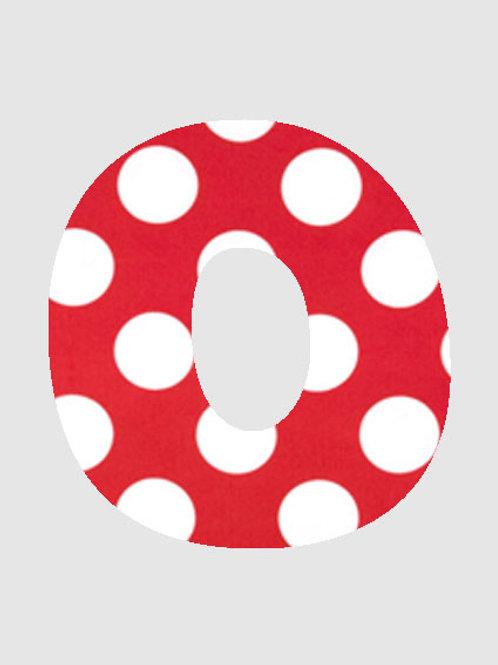 O - Red & White Polka Dot