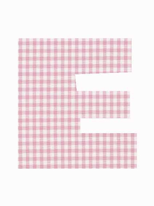 E - Pink Gingham