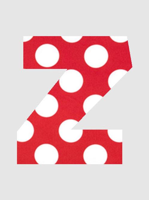 Z - Red& White Polka Dot