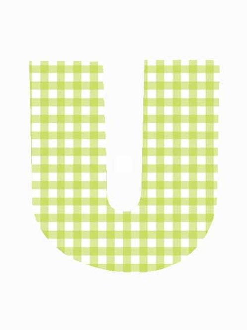 U - Green Gingham
