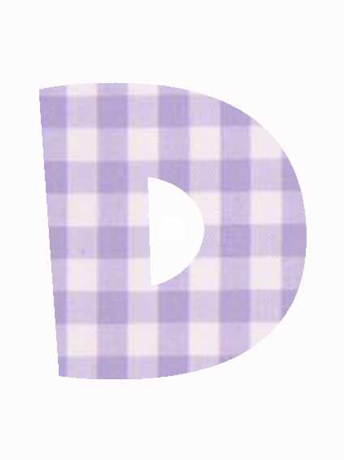 D - Lilac Gingham