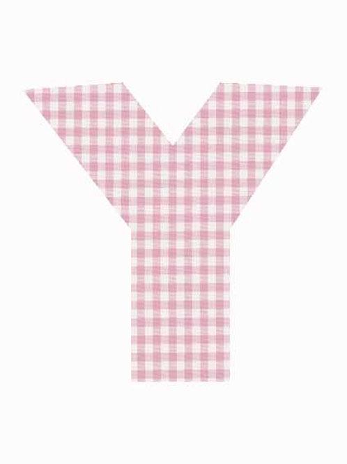 Y - Pink Gingham