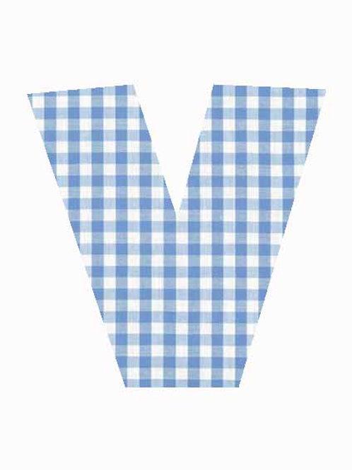 V - Blue Gingham