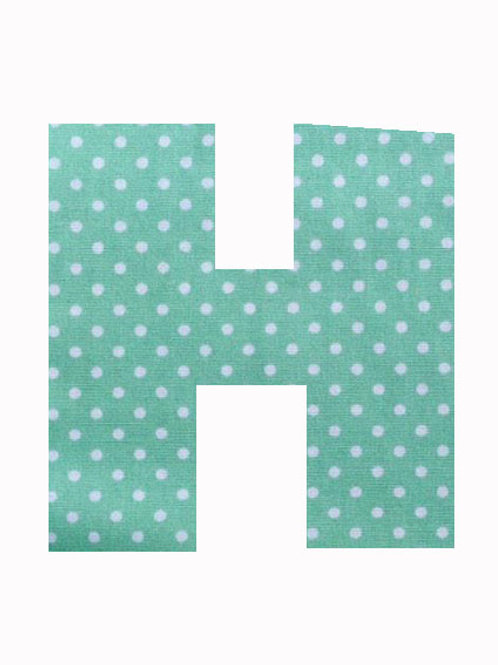 H - Green Polka Dot