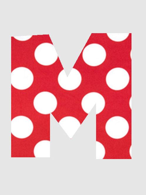 M - Red & White Polka Dot