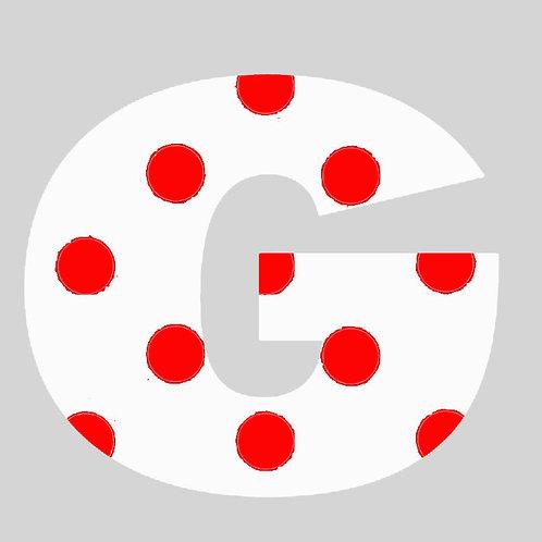 G - White & Red Polka Dot