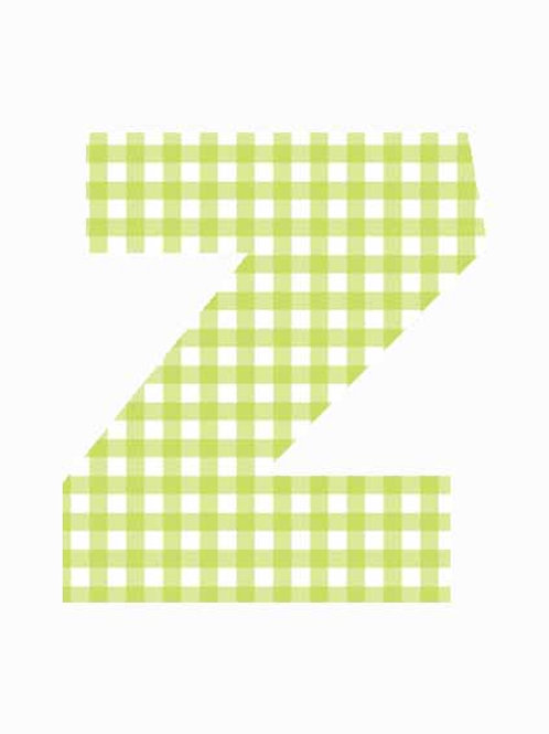 Z - Green Gingham