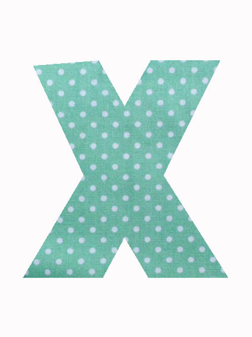 X - Green Polka Dot