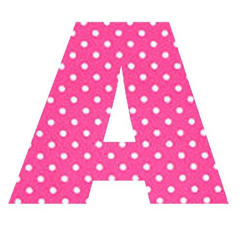 A - Pink Polka Dot