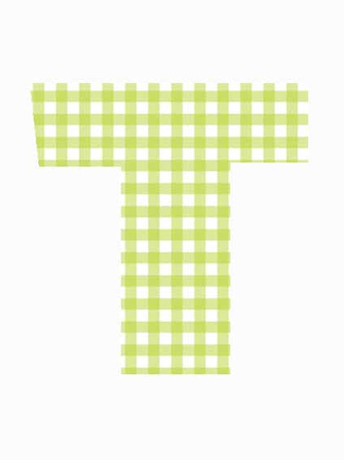 T - Green Gingham