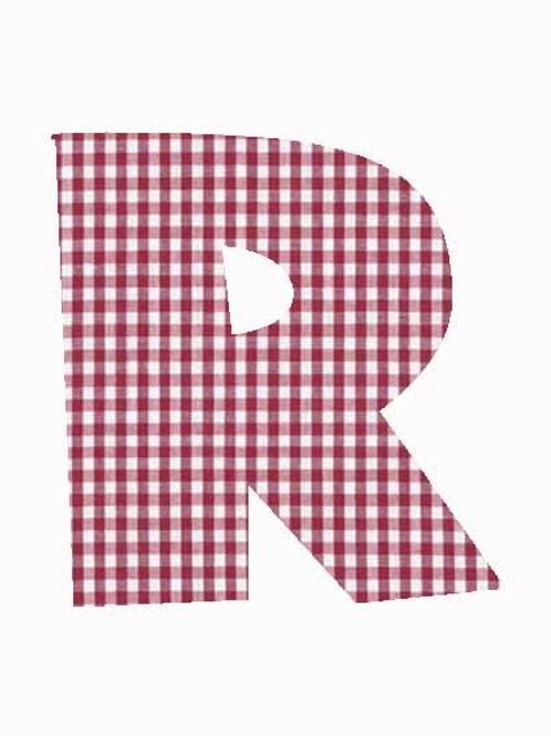 R - Red Gingham