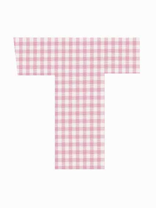 T - Pink Gingham