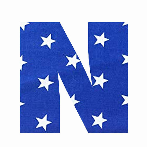 N - Dark Blue Star