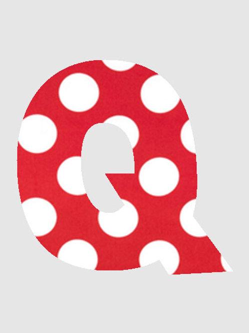 Q - Red & White Polka Dot