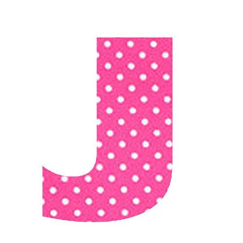J - Pink Polka Dot