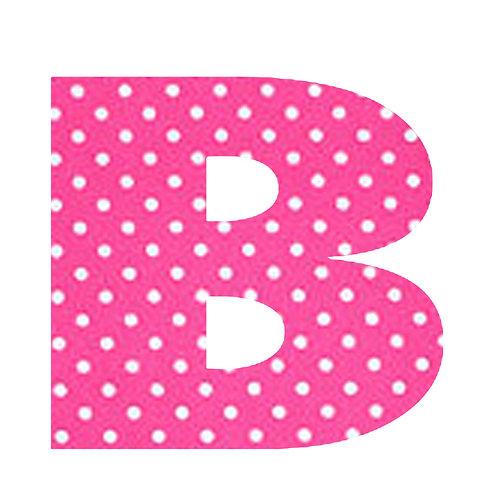 B - Pink Polka Dot