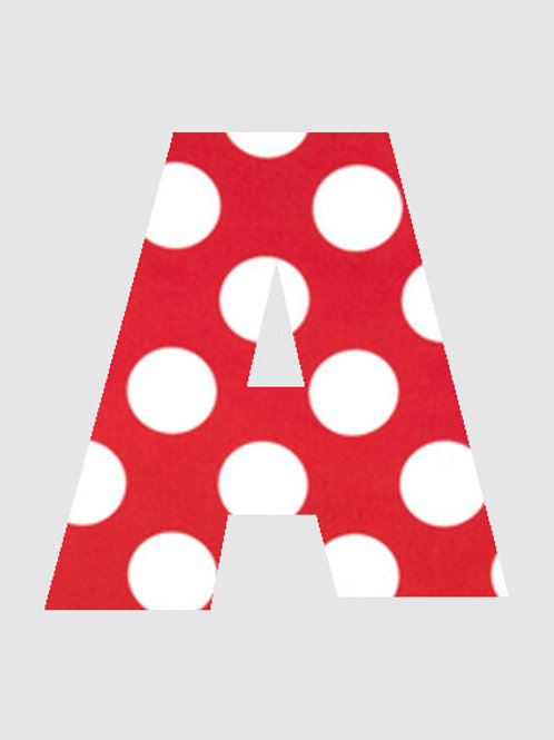 A - Red & White Polka Dot
