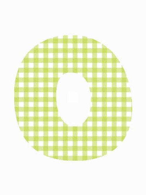 O - Green Gingham