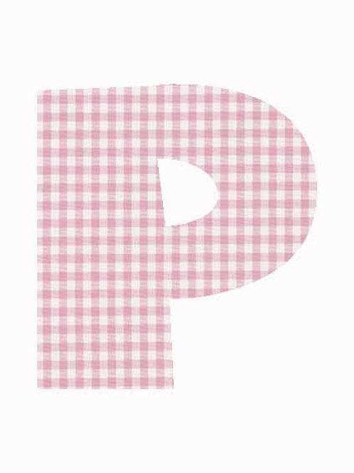 P - Pink Gingham