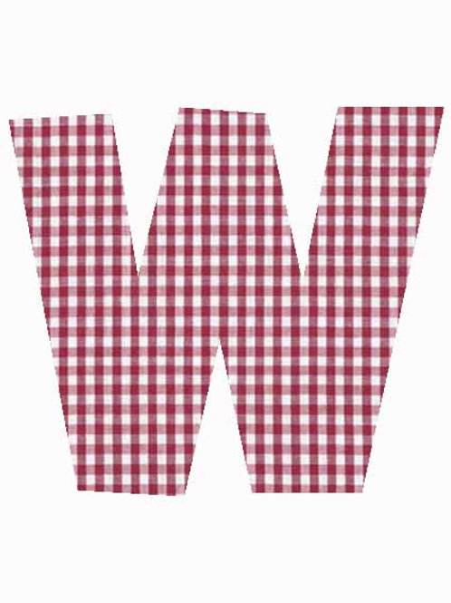 W - Red Gingham