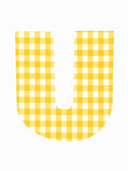 U - Yellow Gingham