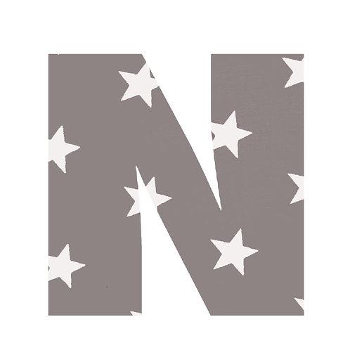 N - Grey Stars