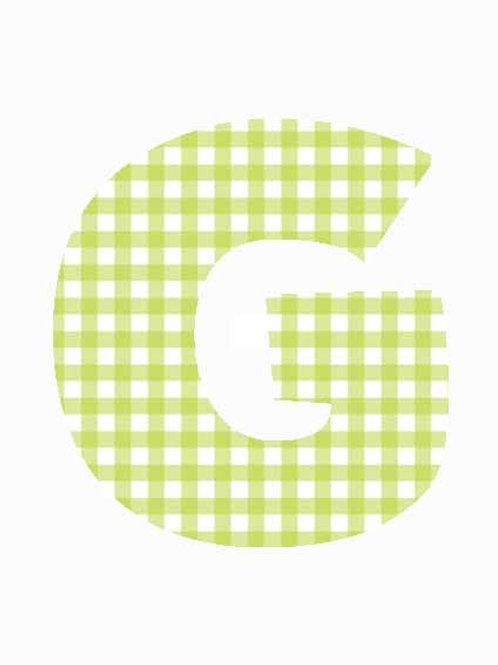 G - Green Gingham