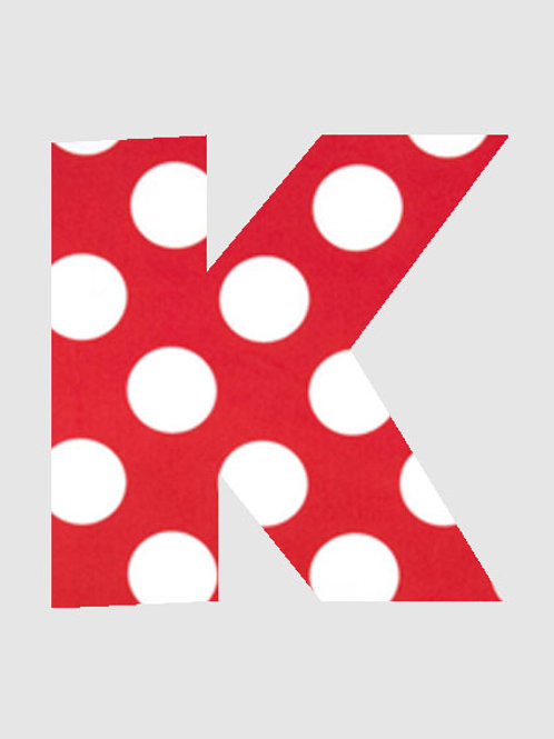 K - Red & White Polka Dot