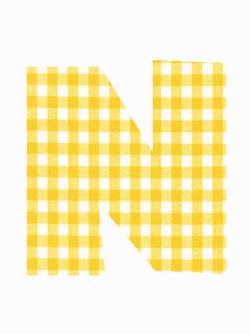 N - Yellow Gingham