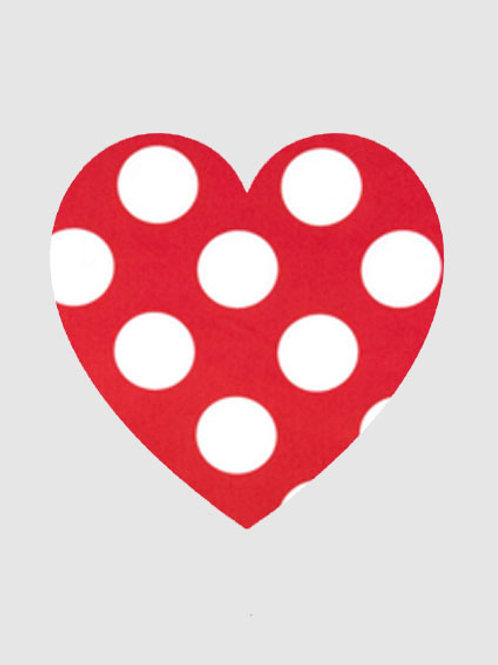 Heart - Red & White Polka Dot