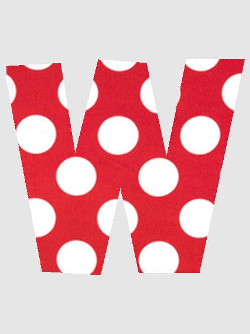 W - Red & White Polka Dot