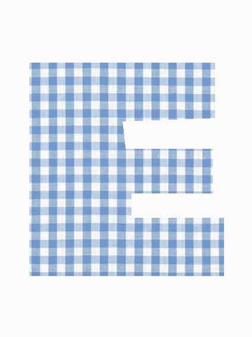 E - Blue Gingham
