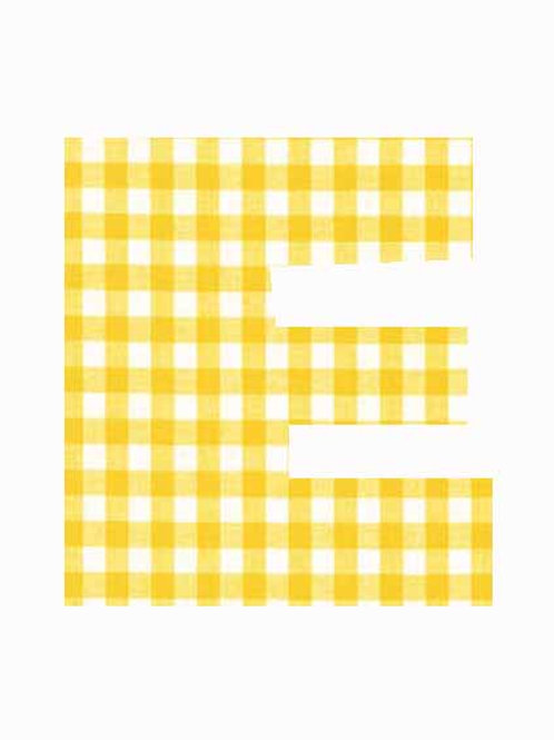 E - Yellow Gingham