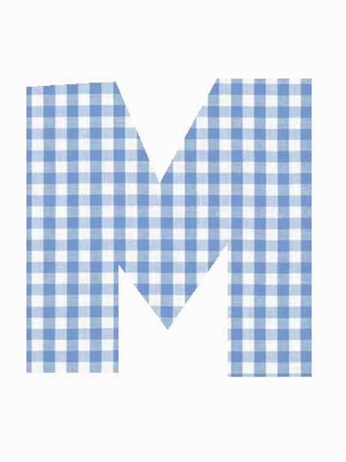 M - Blue Gingham