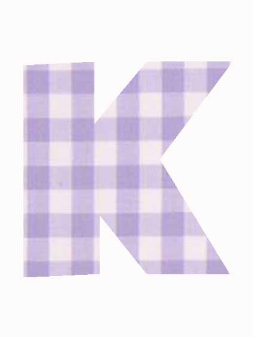 K - Lilac Gingham