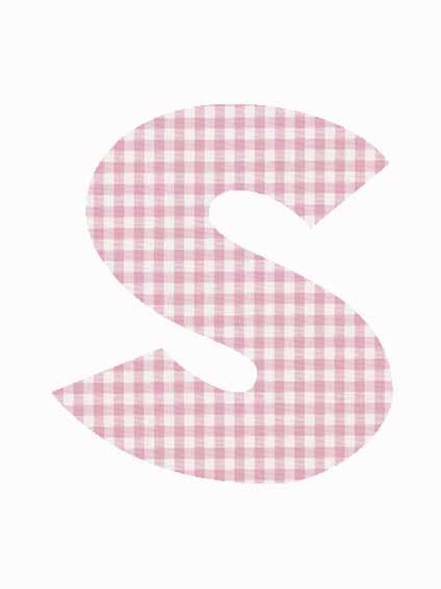 S - Pink Gingham