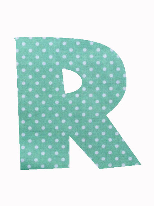 R - Green Polka Dot