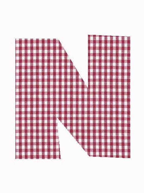 N - Red Gingham