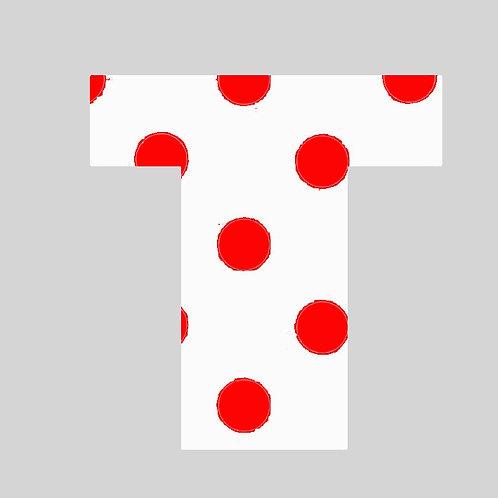 T - White & Red Polka Dot
