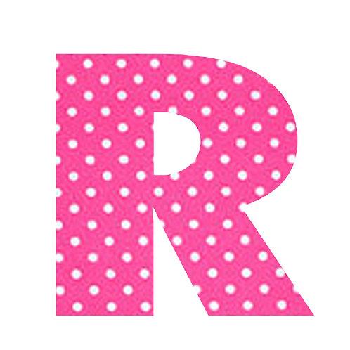 R - Pink Polka Dot