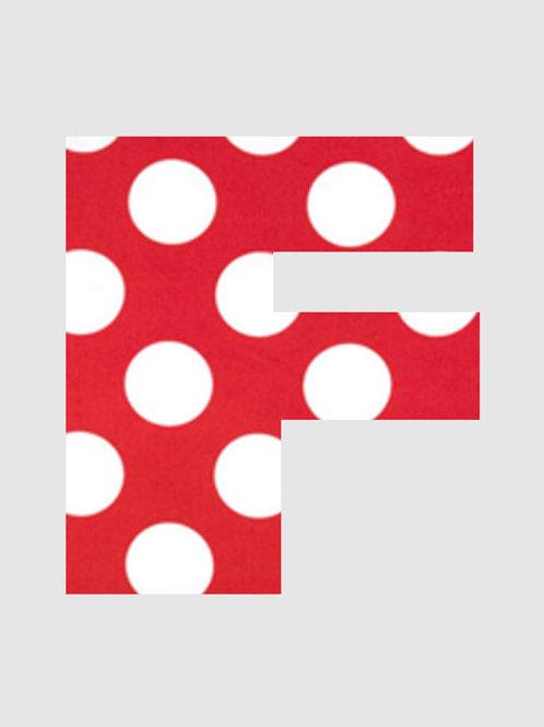 F - Red & White Polka Dot