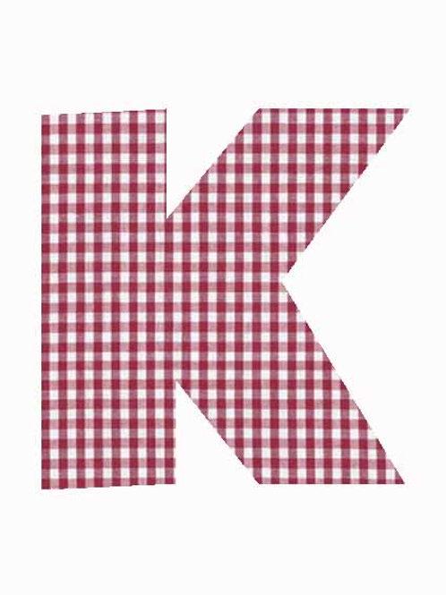 K - Red Gingham