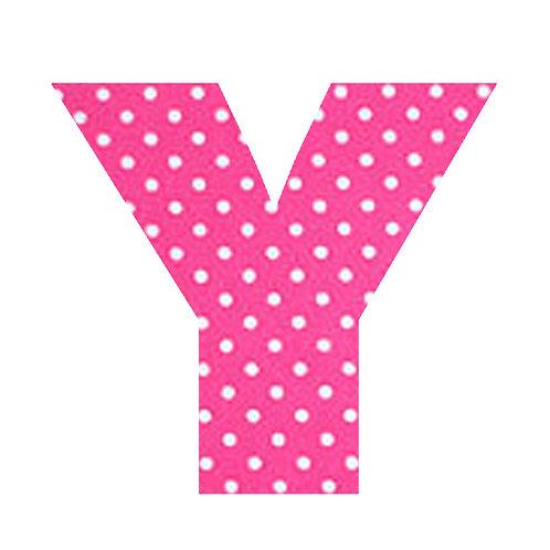 Y - Pink Polka Dot