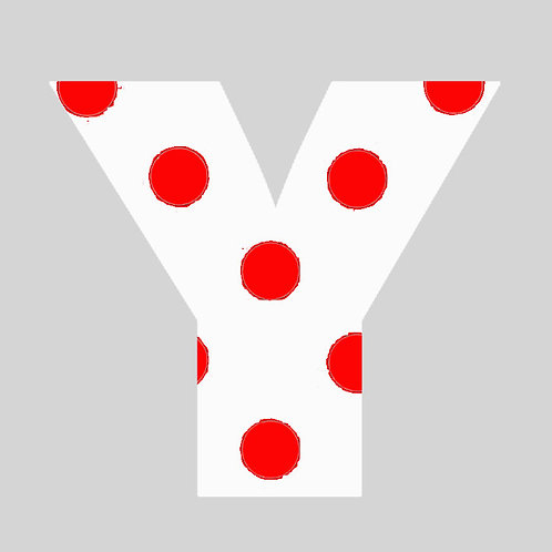 Y - White & Red Polka Dot