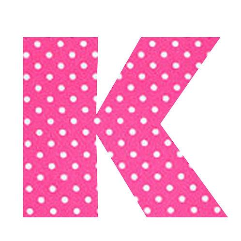K - Pink Polka Dot