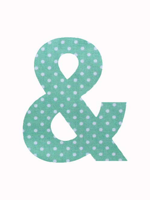 & - Green Polka Dot