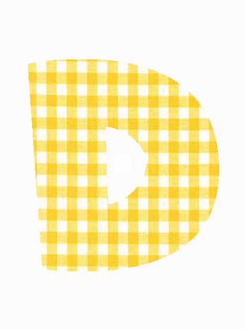 D - Yellow Gingham